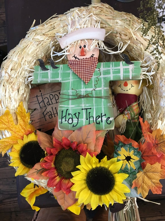 Hay There, Scarecrow wreath