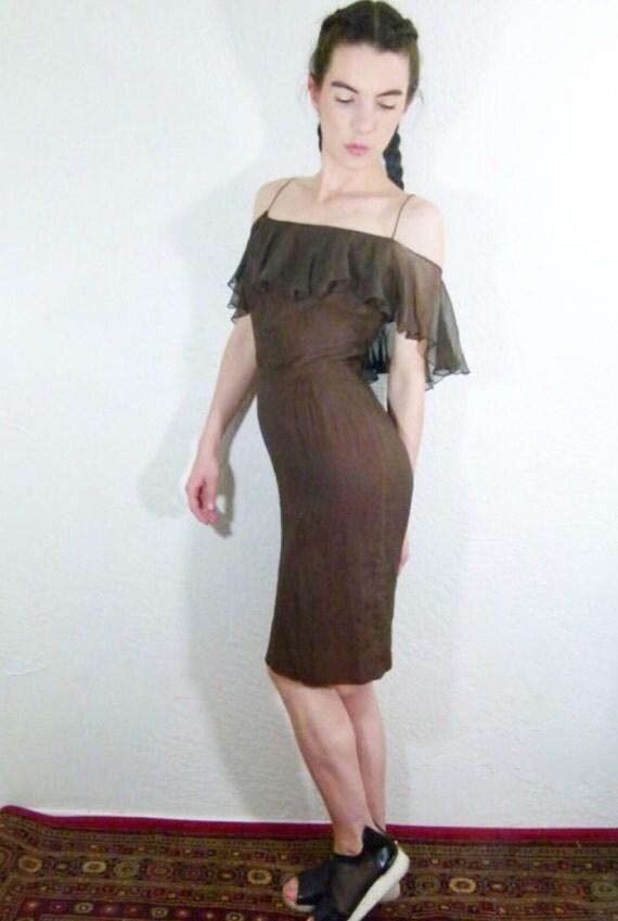 70s Off The Shoulder Dress