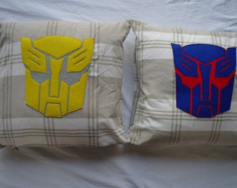 Transformers Cushion Cover with Transformers Autobot design (Bumblebee)