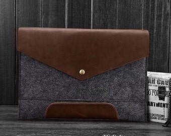 Full Grain Leather+ Macbook + Eco-friendly + Laptop Case + Made in The USA