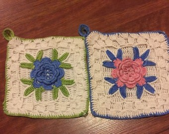 Vintage Crocheted hot pads/pot holders