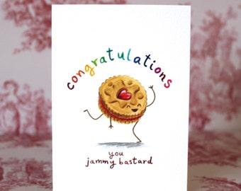 Jammy Dodger Congratulations Card