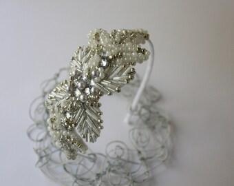 Bridal Head Piece Bridal Headband Wedding Headband Bridal Hairband Bridal Halo Bridal Veil Bridal Wreath Bridal Hair Piece