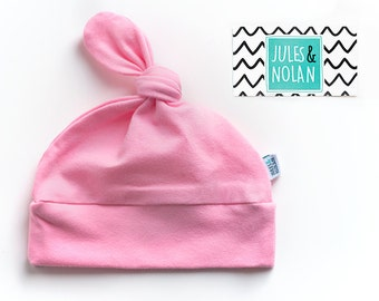 30% - baby knot hat - beanie for baby, shower gift - light pink