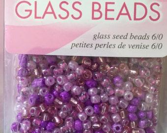 Beads, Glass Beads, Pink Seed Beads, Pink Seed Bead Mix, Seed Beads, Glass Seed Beads, Pink Glass Seed Beads, Pink Beads
