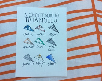 A Complete Guide to Triangles watercolor print