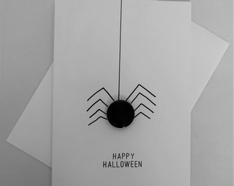 Happy Halloween Card, Hallowen Card, Spider card