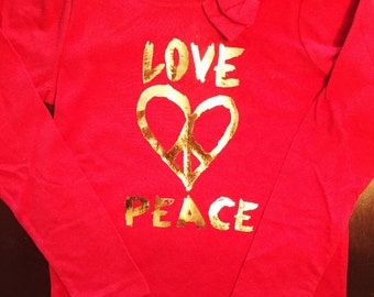Love and Peace with bow