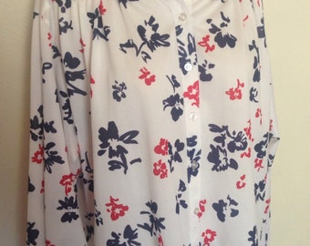 Patriotic Polyester Floral Shirt