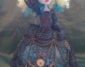 Willow is a, One of a Kind 12 inch Ostrich Egg Art Doll
