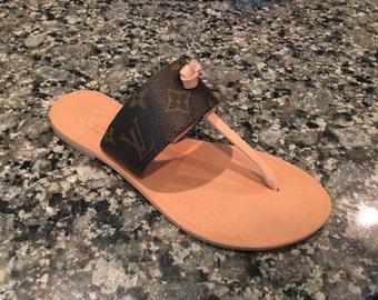 Joie sandals with Authentic Louis Vuitton Canvas