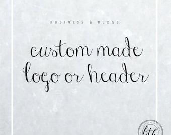 Custom Logo, Custom Blog Header, Made to Order Logo, Made to Order Blog Header, Custom Branding, Custom Brand, Business Logo, Blog Header