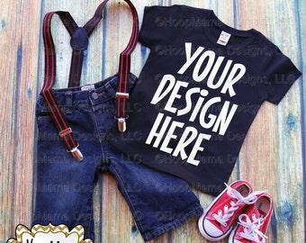Black Shirt Red Shoes and Suspenders MOCKUP, Instant Download, Commercial Use OK, Mock Up for Design Display