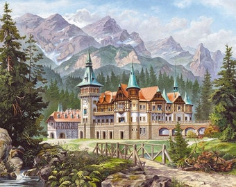 Puzzle Castorland 3000 pcs Castle at the foot the mountains (Art)