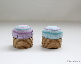 Embroidered mini pincushion