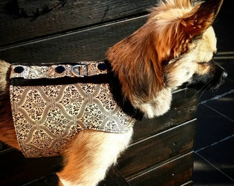 Sophisticated Decorative Motif Dog Harness, Dog Vest, Pet Accessories, Chihuahua Harness