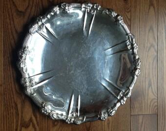 Towle vintage tray - Vintage silver tray - Vintage centerpiece - Antique silver tray - Vintage towle tray 4021