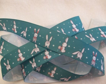 """Easter Bunny Grosgrain Ribbon 7/8"""""""