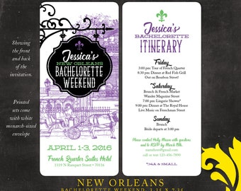 Superior NEW ORLEANS . Bachelorette Weekend Invitation
