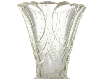 Art Deco Crystal Vase