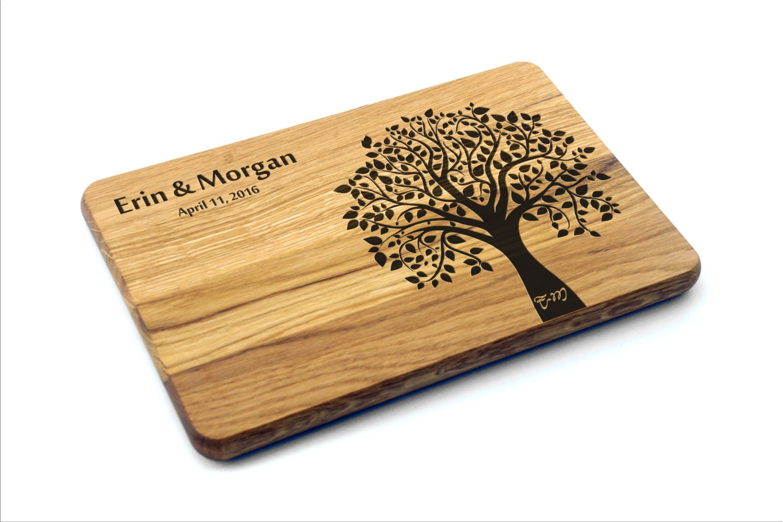 Wedding Gift Cutting Board: Personalized Cutting Board Wedding Tree Wedding Gift