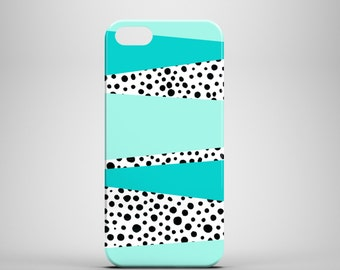 Mint and Dots phone case / doodle phone case / polkadots iPhone 7 case / iPhone 7 Plus case / iPhone 6S / iPhone 6 / iPhone 5S / iPhone 5
