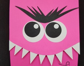 Pink Monster Tri-fold Card