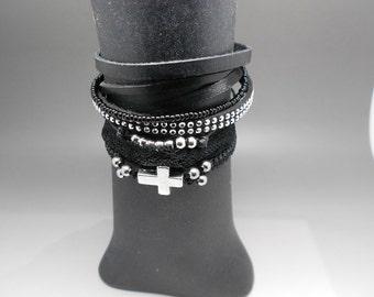 Gothic loving MULTISTRAND bracelet