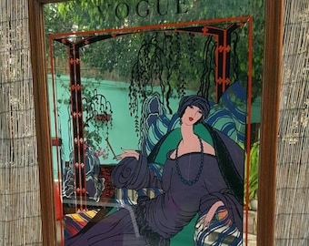 Espejo Vogue Art Nouveau / Art Nouveau Vogue mirror