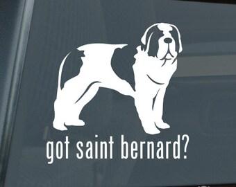 Got Saint Bernard Die Cut Vinyl Sticker st. st - 1301
