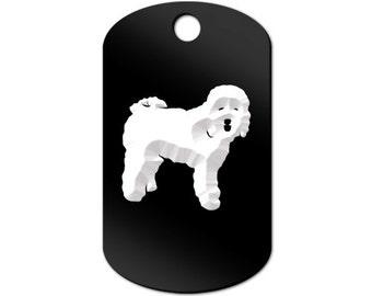 Labradoodle Engraved GI Tag Key Chain Dog Tag doodle - MDT-1144