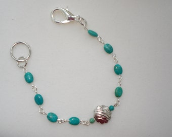 "Genuine Turquoise Bracelet 7.5"""