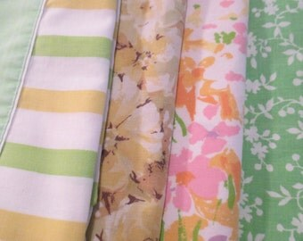 Vintage Mismatched Pillowcases,Cottage Chic, Home Decor, Fabrics, Linens, Remixed - Set of 4