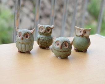 Cute Ceramic Owl Ornaments Home/Garden/Office Desk Decoration