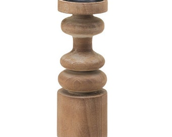 Country Craftsman Wooden Candleholder, Centerpiece