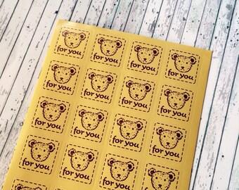 20 PCs bear Sticker For You