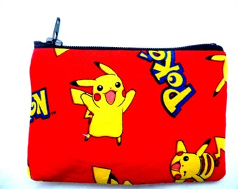 coin purse made with Pokemon fabric