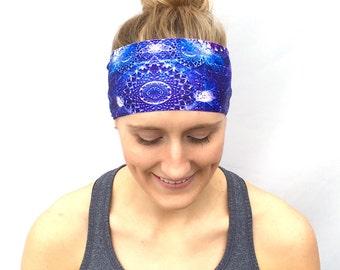 Fitness Headband - Workout Headband - Running Headband - Yoga Headband - Galaxy
