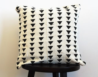 MUDCLOTH PILLOW COVER // African mudcloth, mudcloth, pillow cover, bogolan, bohemian, black mudcloth