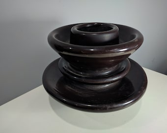 Giant Brown Porcelain Electrical Insulator