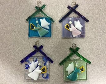 Fused Glass Angel Ornament