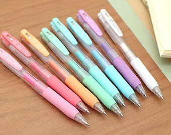 Zebra Sarasa Push Clip Gel Pen - 0.5 mm - Milk - 8 Color Set