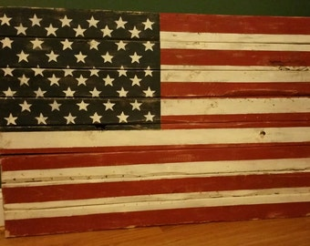 Vintage American Flag Wall Hanging