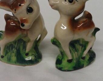 Vintage Bambi Deer Salt and Pepper Shakers Set