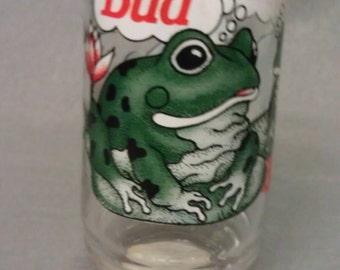 Bud Weis Er Budweiser Frog Glass