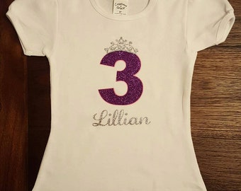 Princess 3rd Birthday Shirt