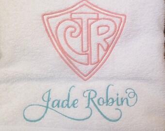 LDS Baptism CTR Towel