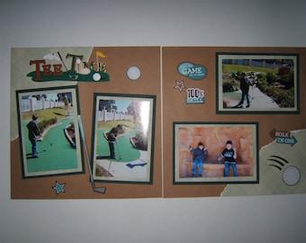 Golf Scrapbook Pages - Premade Golf Scrapbook Layouts - Dad pages - Grandpa scrapbook layouts - Dad Scrapbook Pages - Premade Grandpa pages