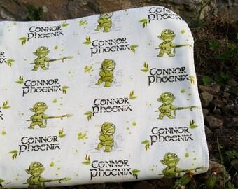 Personalized Baby Blanket,  Fantasy Baby Blanket, Baby Boy Gift, Baby Name Blanket, Personalized Baby Boy Gifts