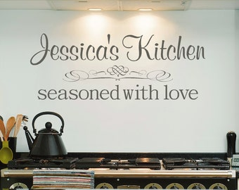 Personalized Kitchen Decal, Kitchen Vinyl Decal, Personalized Wall Decal,SALE
